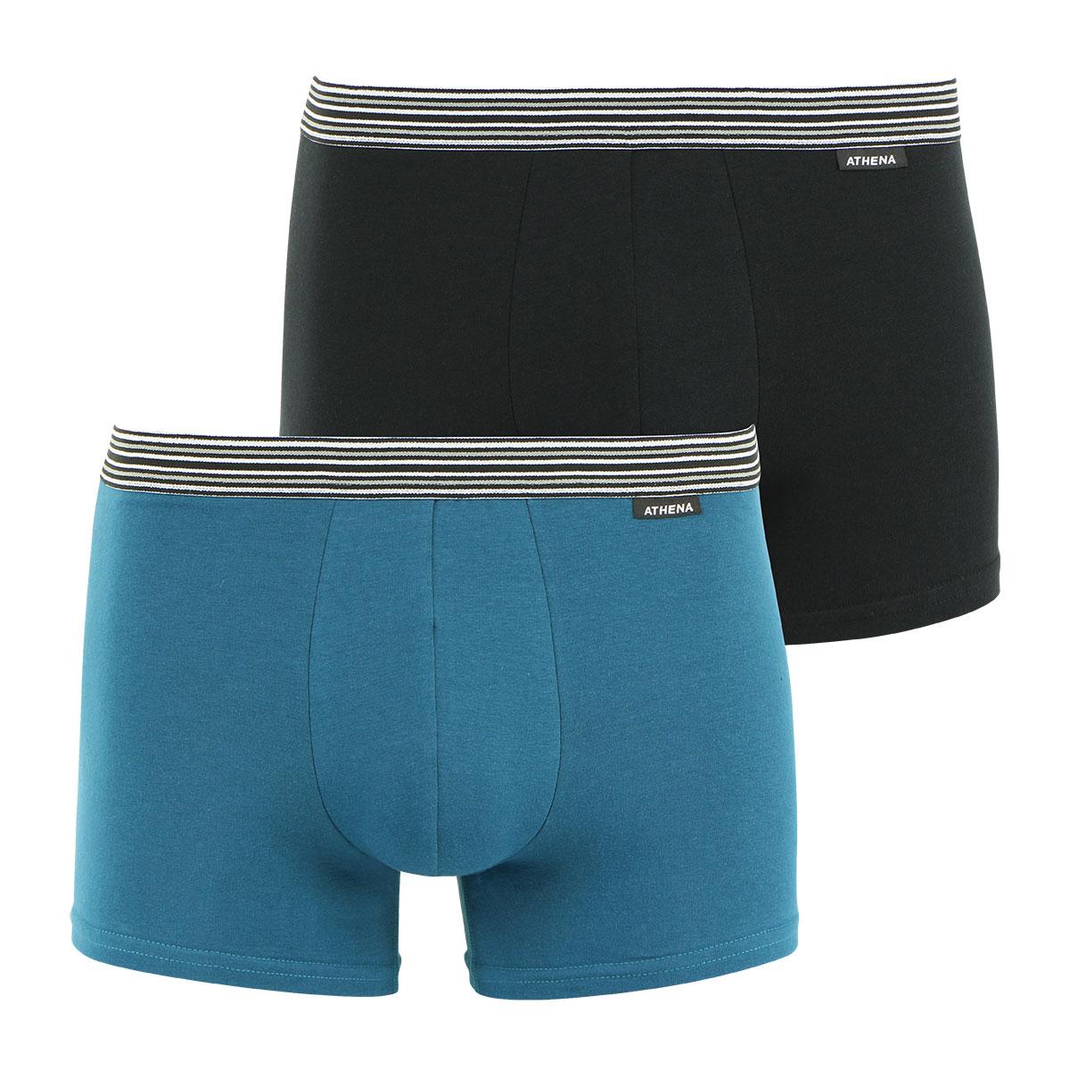 Lot de 2 boxers homme Eco Prix Athena. Boxers homme X2 ATHENA ECO PACK en coton extensible    Athena ECO PACK est une gamme de  sous-vêtements d