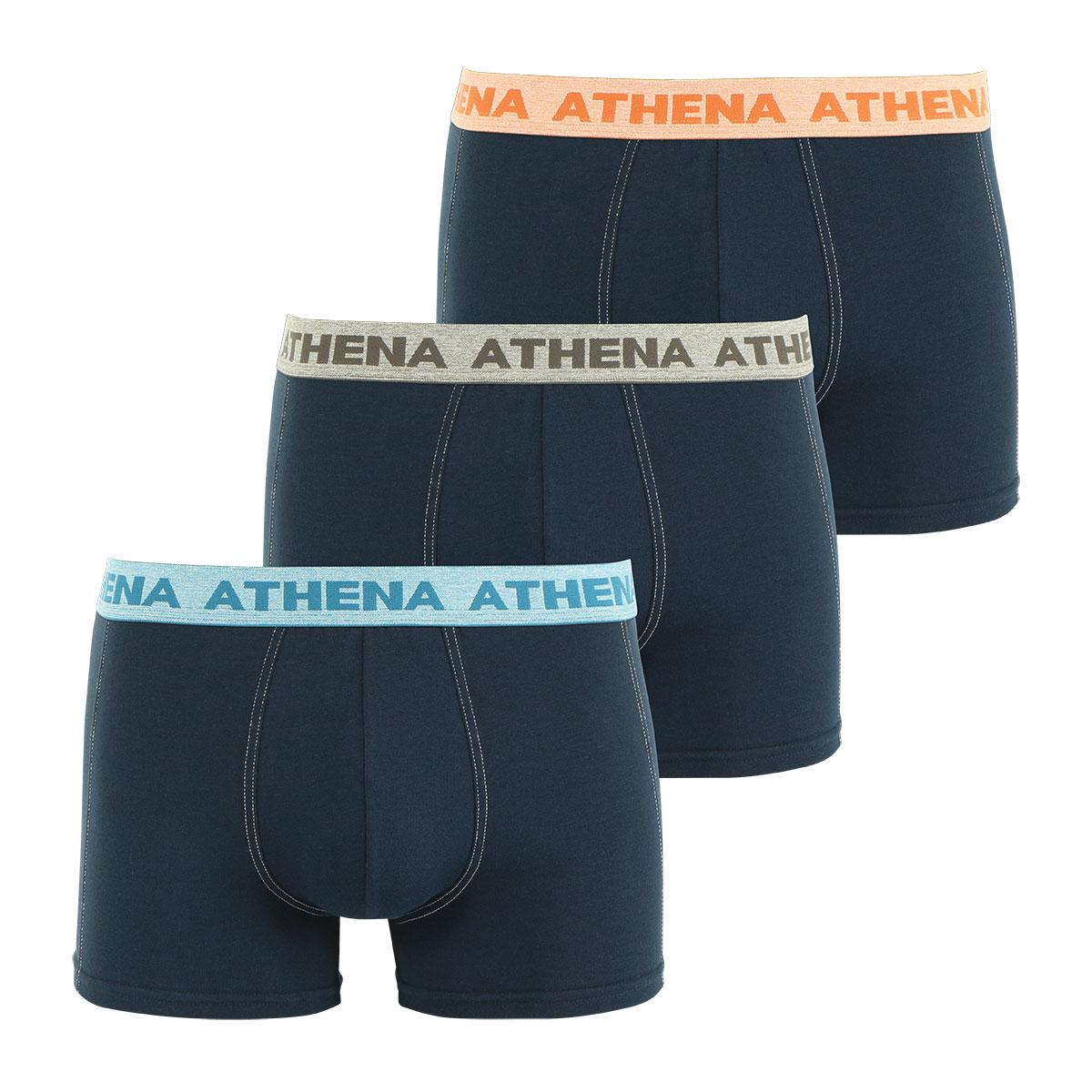 Lot de 3 boxers homme Authentic Athena. Lot de 3 boxers ATHENA AUTHENTIC en coton stretch respirant   Inspiré du style jeanner américain